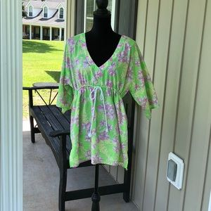 LILLY PULITZER WOMEN'S SZ L BEACH POOL COVERUP